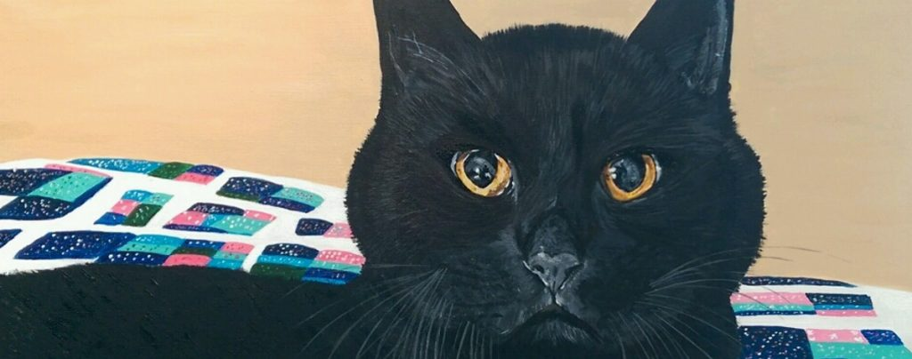 Custom Acrylic Painting - Merlin the Cat