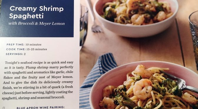 Creamy Shrimp Spaghetti – Blue Apron Review 2