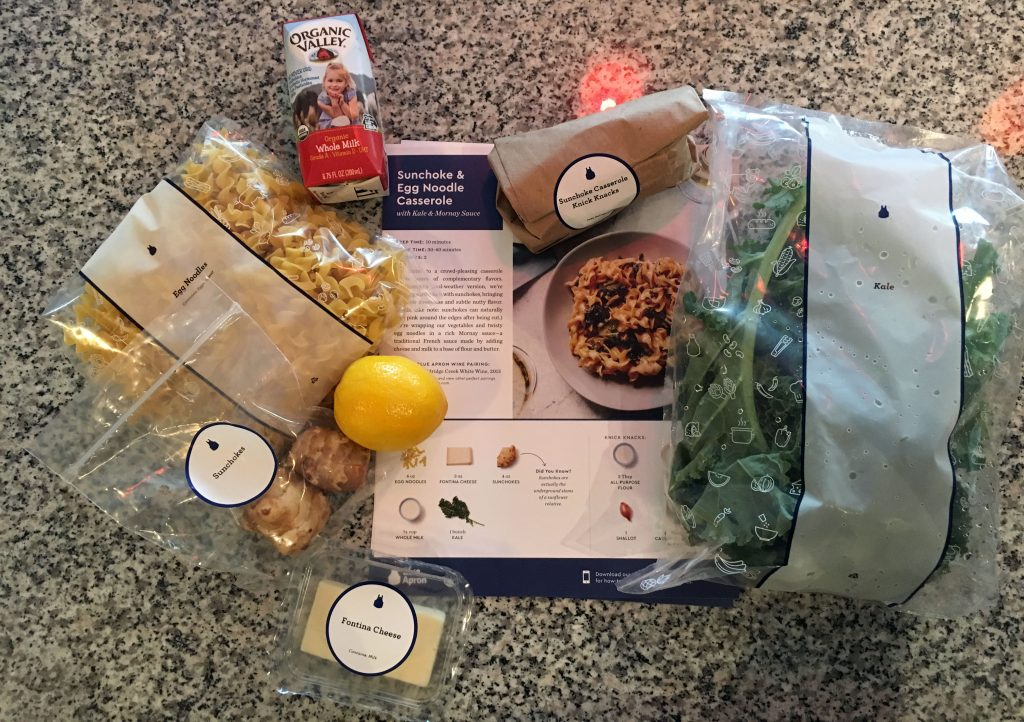 Blue Apron Food Contents